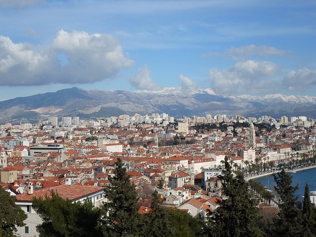 Split, Croatia panoramic view